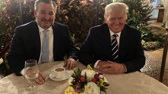 Cruz and Trump at Mar-a-Lago